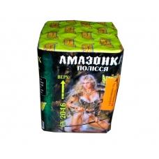 "Салют ""Амазонка полісся"" на 16 выстрелов. Фейерверк 20 мм., калибр (СУ 20-16)"