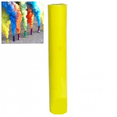 Кольоровий дим для фотосесії жовтий ДК-60s (димова шашка): час роботи 60 сек.